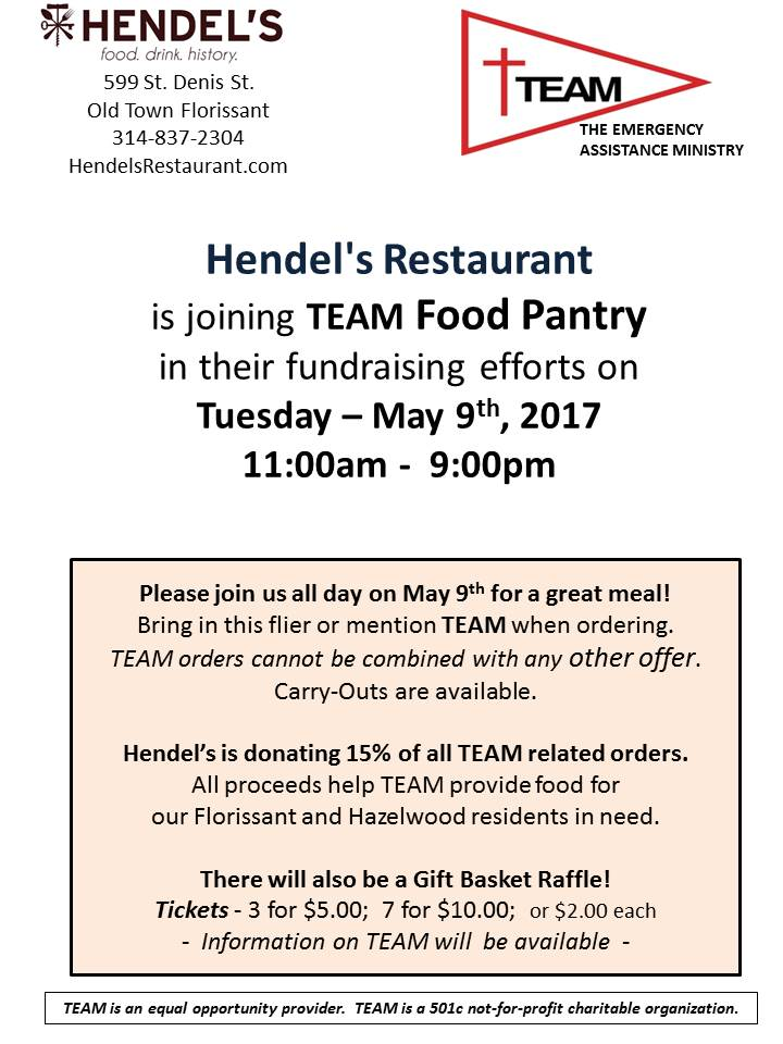 TEAM Fundraiser at Hendel's