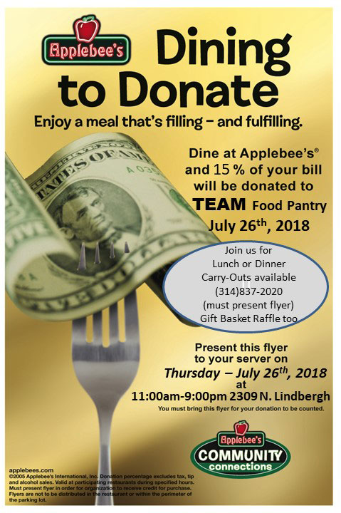 Dining to Donate @ Applebees