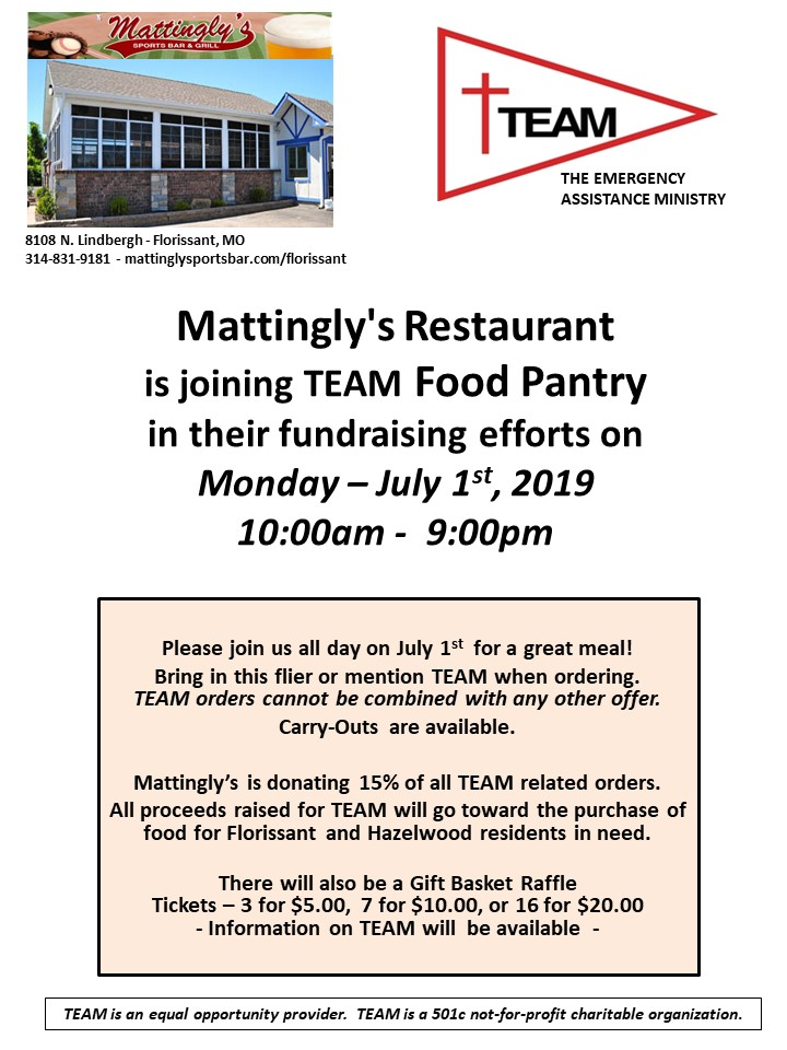 TEAM Fundraiser at Mattinglys