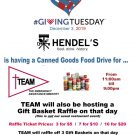 Canned Goods Drive @ Hendel's on Giving Tuesday Dec. 3